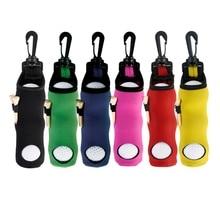 1 шт. портативная маленькая сумка для гольфа, тройники, держатель для переноски, чехол для хранения, неопреновый чехол с поворотным креплением на поясной ремень