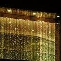 3 m x 3 m UE AU iluminación LED al aire libre Luces De Navidad Guirnaldas de Decoración de La Boda de Hadas de la Secuencia Luces de Cortina Para celebración de días Festivos