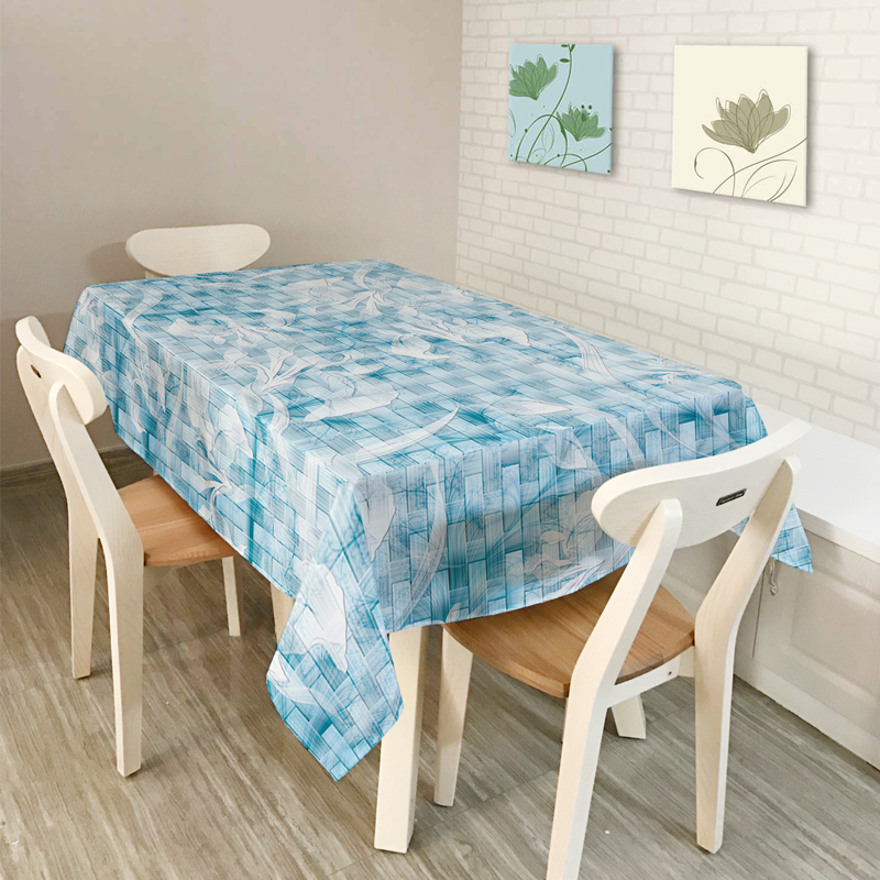 New American style Rural Home decor Simple elegant Plant flowers Scenic Pattern Table Cl ...