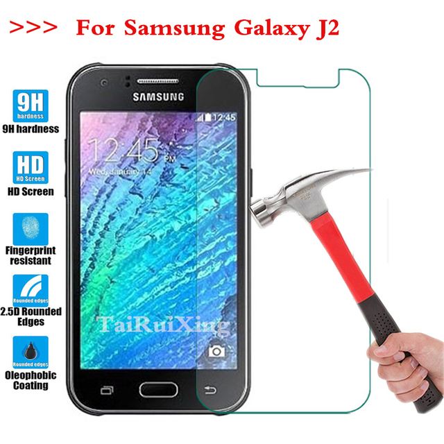 9H 0.3mm 2.5D HD For Samsung Galaxy SM-J2 SM-J200 SM-J200H SM-J200F Nxt Duos Tempered Glass Screen Protector Protective Film *