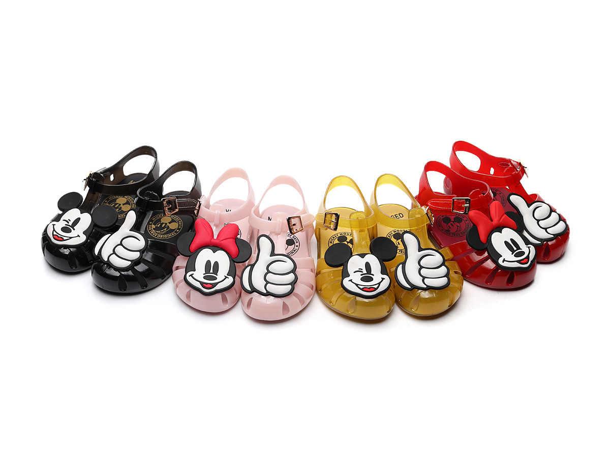 Обувь для малышей Мини-обувь 2019 г. Новые летние мягкие пластиковые туфли для девочек в стиле принцессы Нескользящие пляжные детские сандалии на плоской подошве
