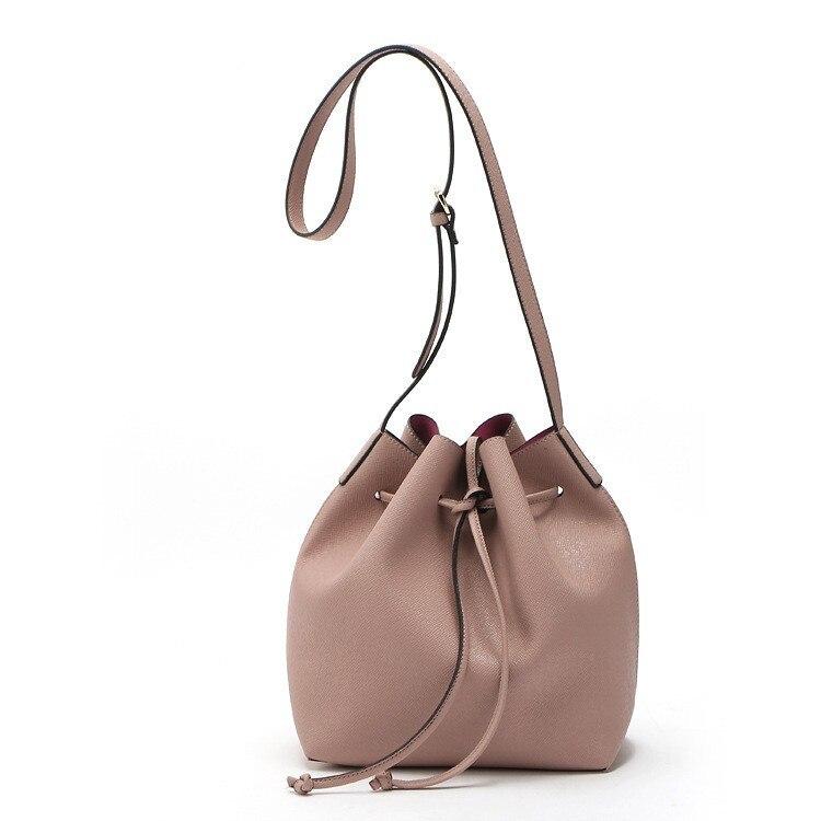no logo Mansur Gavriel Bucket bag women Pu Leather String Shoulder bag Luxury Bags Famous Designer no Logo printed