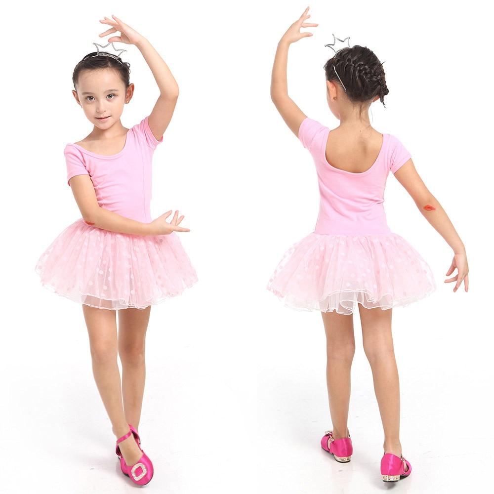 f1d0718b9 2017 Kids Baby Girl Ballet Dancing Dress Child Short Sleeve Tutu ...