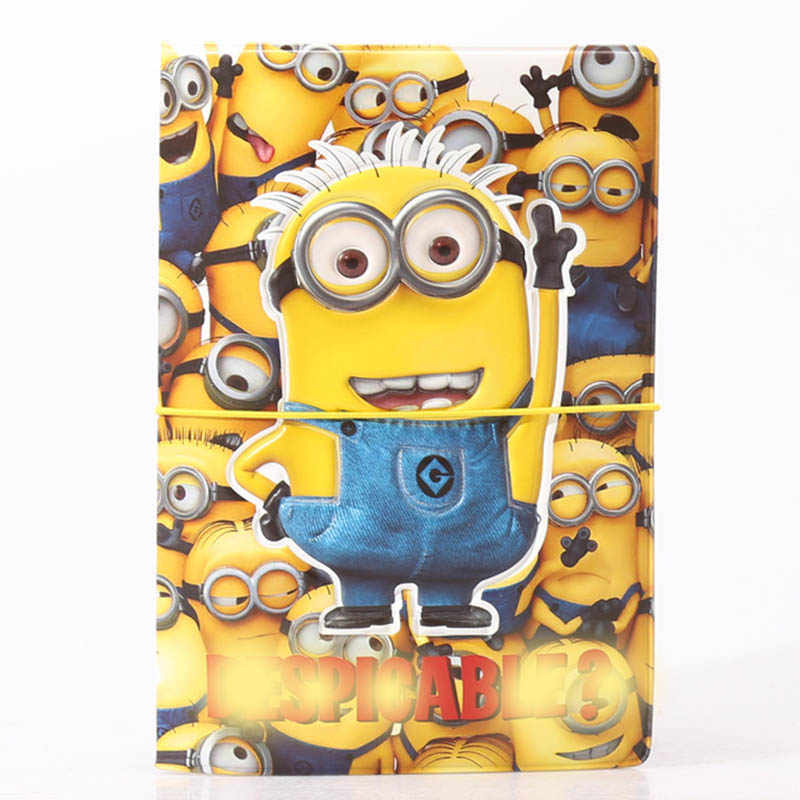 New Travel Accessories Fashion Cartoon Minions Passport Cover Holder High Quality PVC Couverture Passeport Card Bag 14*9.6cm
