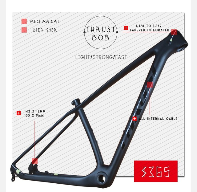 THRUST Carbon Frames 15/17/19 INCHES 29er 27er Carbon Mountain Bike  Frameset Free Shipping carbon mtb frame-in Bicycle Frame from Sports & ...