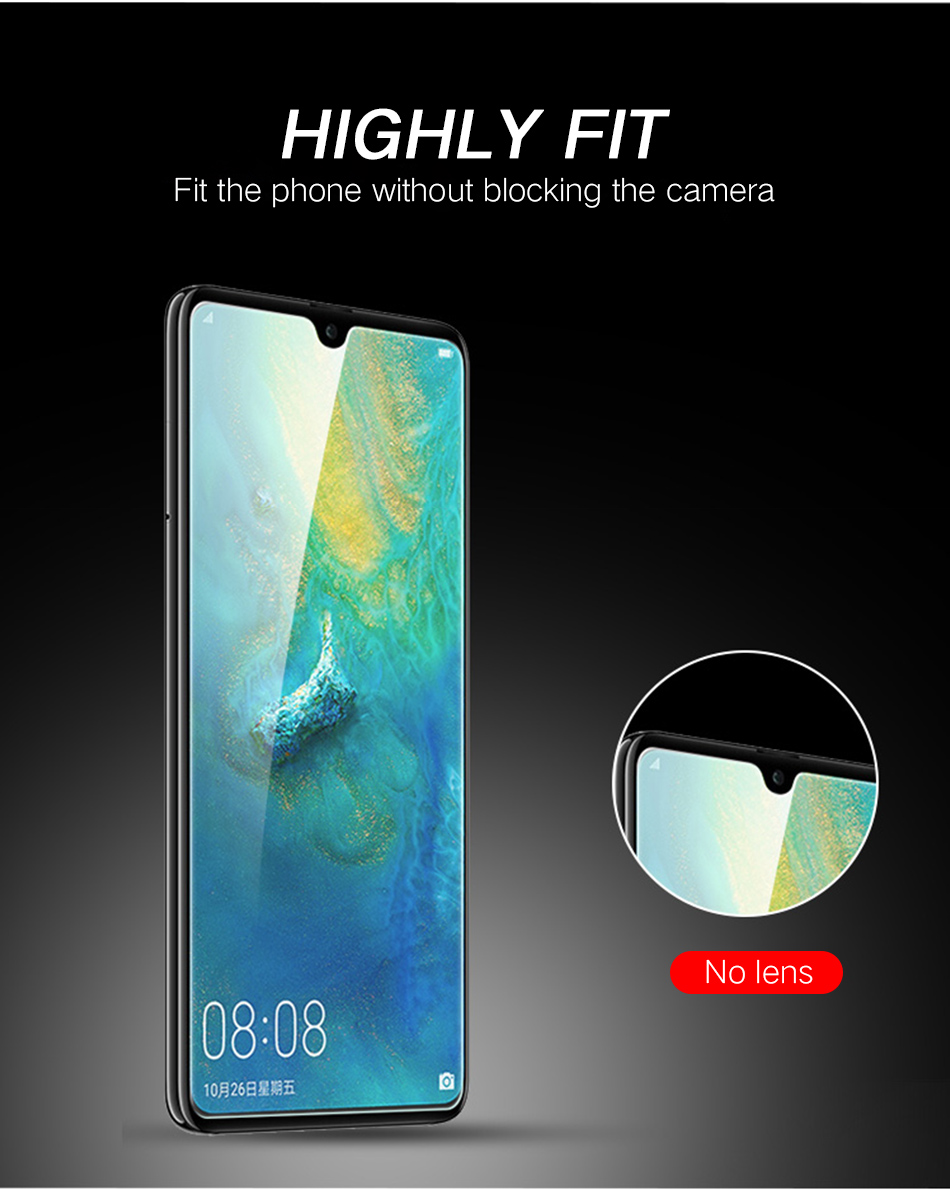 5JiQi mate20 P20 Pro Lite Tempered Glass 2.5D For Huawei P10 Lite P20Pro Full Film Protector For Huawei Honor 10 9 P10 plus Lite