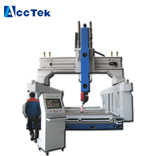Italy Hsd Spindle Cnc Woodworking Machinery 5 Axis Cnc Cutting