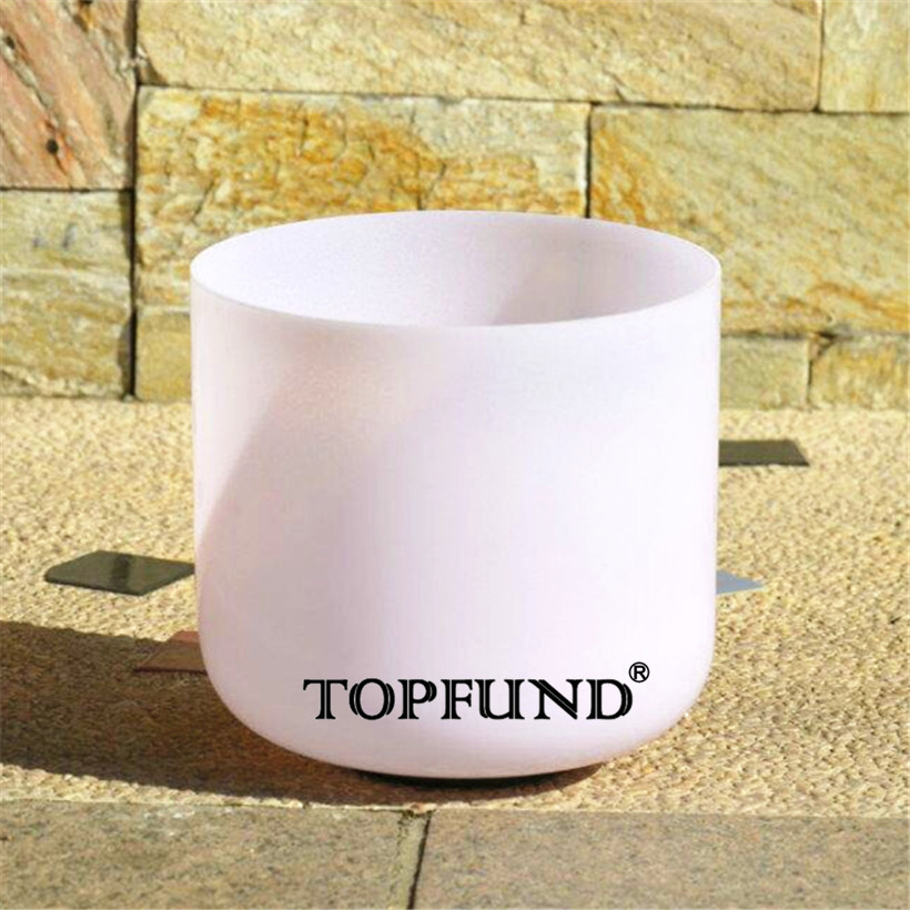 Sports & Entertainment Topfund Pink Gemstone Fused Clear A# Pineal Chakra Crystal Singing Bowl 7 With Free Mallet And O-ring