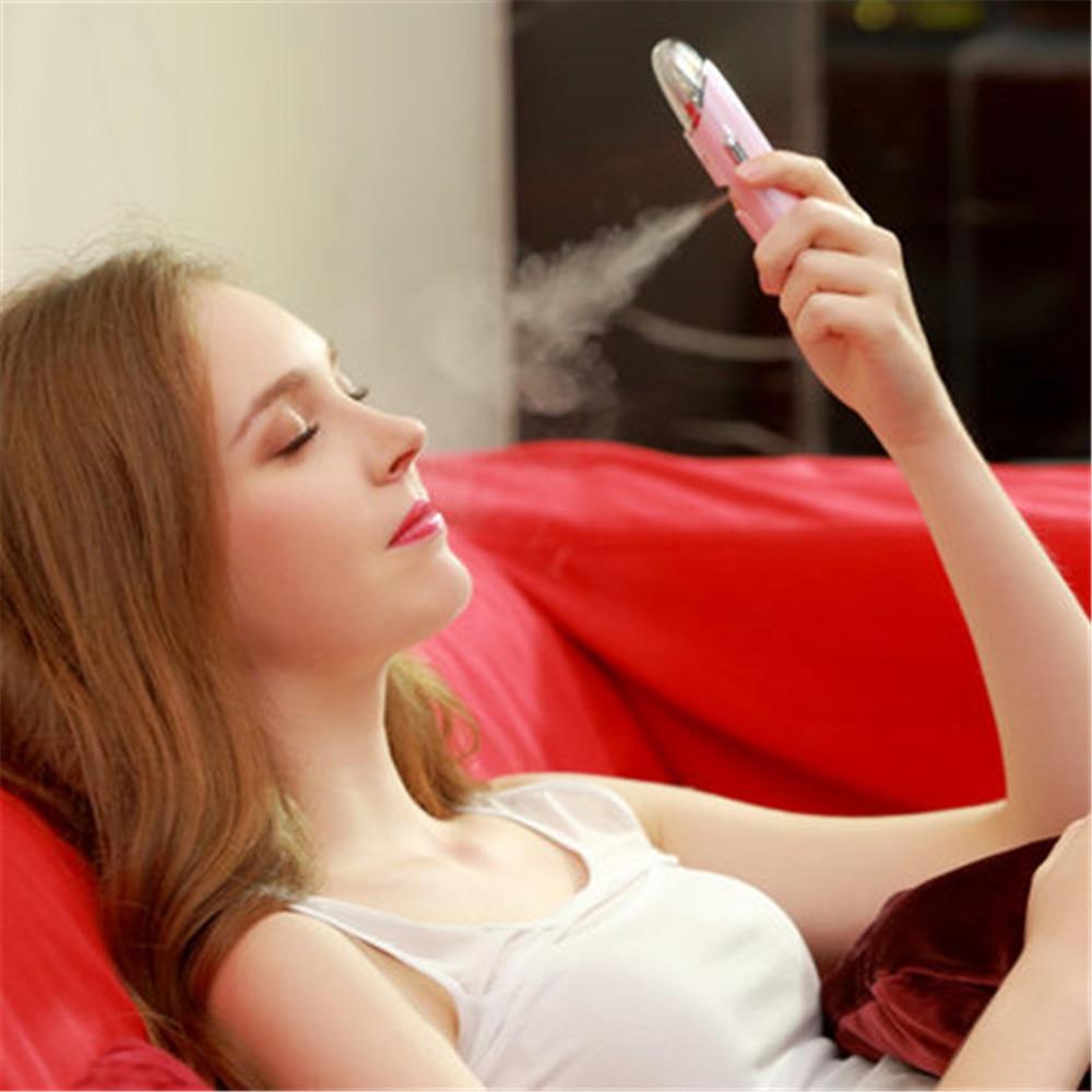 ФОТО Facial Beauty Hydrating Massager Portable Face Handy Nano Sprayer Care Health Spa Mist Beauty Skin Care Steamer Spray