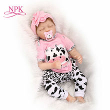 NPK Bebe reborn princess silicone dolls reborn size 22inch Princess Toddler Babies Dolls toys for children gift real alive(China)