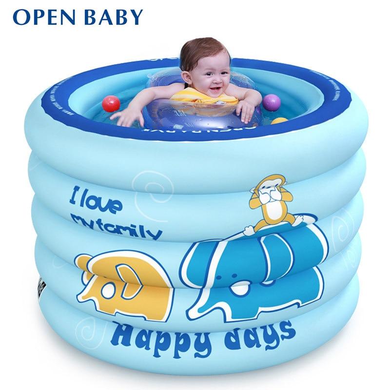 Портативный маленьких Бассейны надувной детский Для ванной ванна 100x75 см детские мини-площадка Экологичные ПВХ пруд