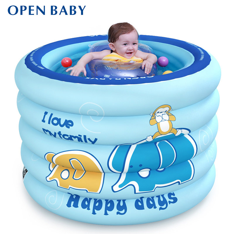 Portable Baby Swimming Pool Inflatable Kids Bath Tub 100x75cm Baby Mini-playground Eco-friendly PVC Pond inflatable baby swimming pool eco friendly pvc portable children bath tub kids mini playground newborn swimming pool bathtub