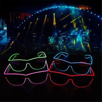 Podświetlany przewód gogle Glow fajne okulary LED Luminous okulary okulary na imprezę dla dzieci do klubu na imprezę Disco etapie