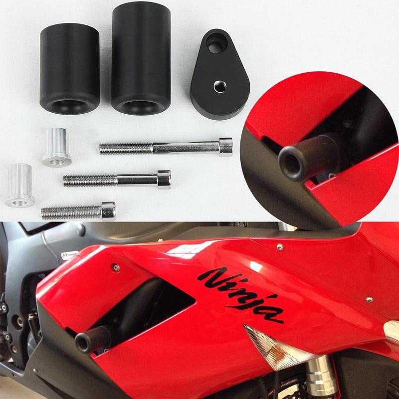 Motorcycle Falling Protection No Cut Anti Crash Pads Fairing Frame Protector Slider for Kawasaki ZX6R ZX-6R 2007 2008 все цены