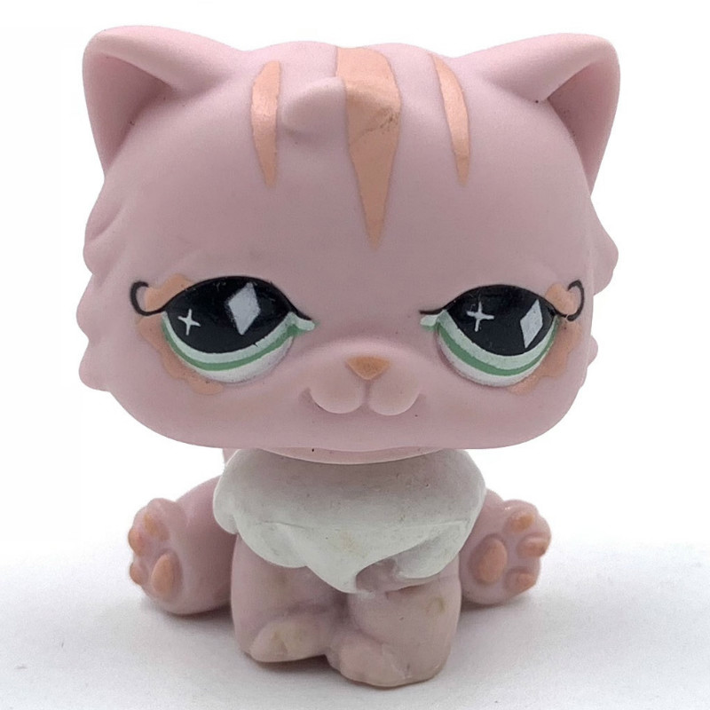 Real Rare Pet Shop Lps Toys PERSIAN Cat #460 Pink Kitty Old Original Toy Free Shipping
