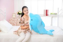 big new creative plush dolphin toy stuffed lovely blue dolphin doll gift about 70cm