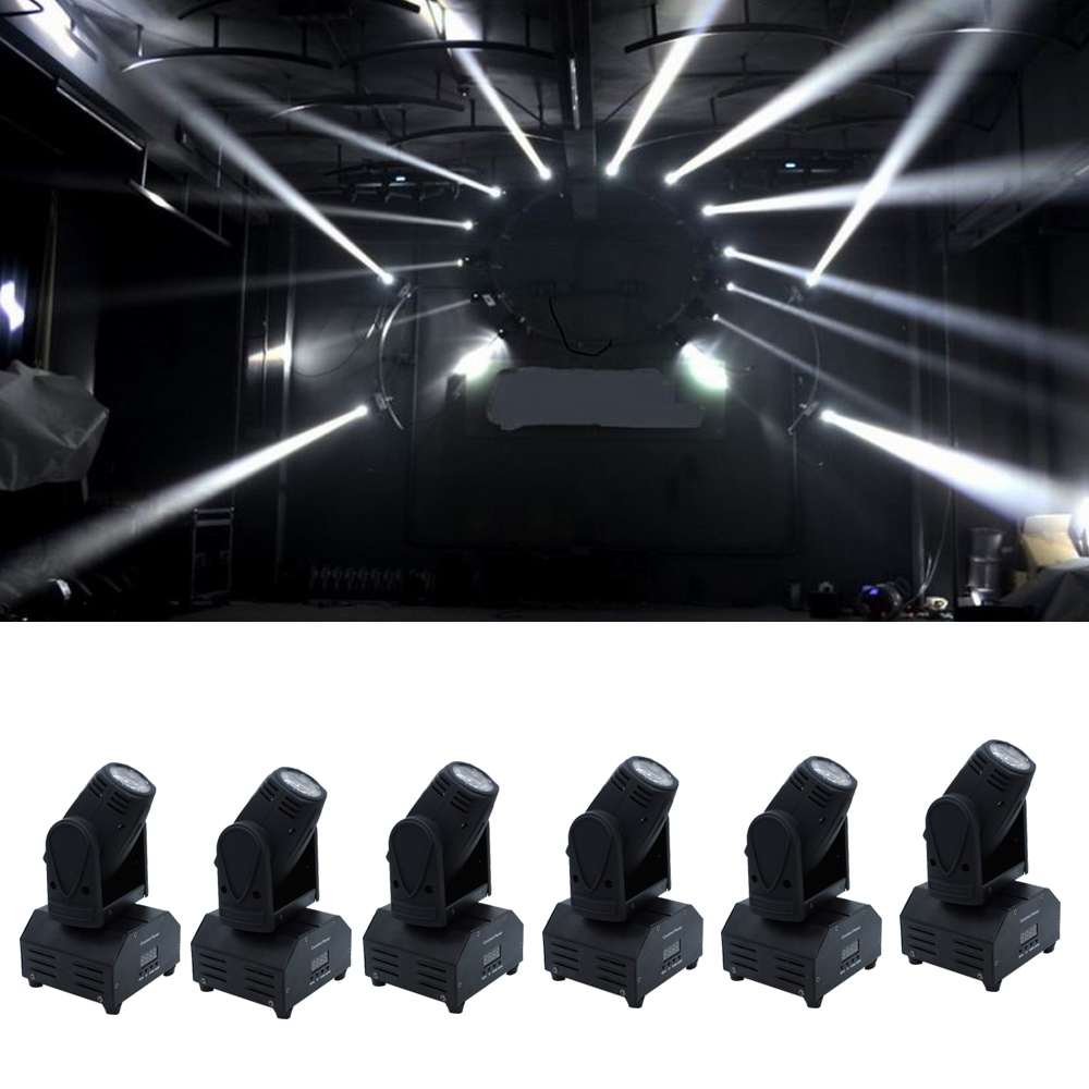 6xLOT DHL Free Shipping 10W 4in1 RGBW LED Mini Moving Head Beam Light Ultra Bright CREE lamp Stage DJ Show Home Party from China