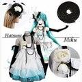 Vestido de traje de Cosplay Vocaloid Miku Athemis Dlower Joyería Hatsune traje cosplay vestido de accesorios
