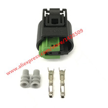 5 Pcs 2 Pin Female Tyco 968405-1 Fuel Injector Auto Plug 1-967644-1 Sensor Connector For BWM Porsche Benz