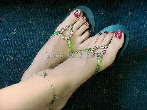 girls solid silicone font b doll b font Pussy foot Feet model Anklets Display props whitening