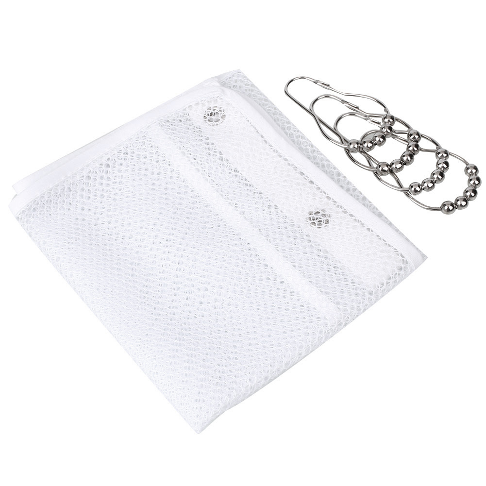 New Arrival Bath Shower Organizer Quick Dry Hanging Shower Curtain Rod /  Liner Hooks Mesh Bathroom Accessories Drop Shipping In Storage Bags From  Home ...