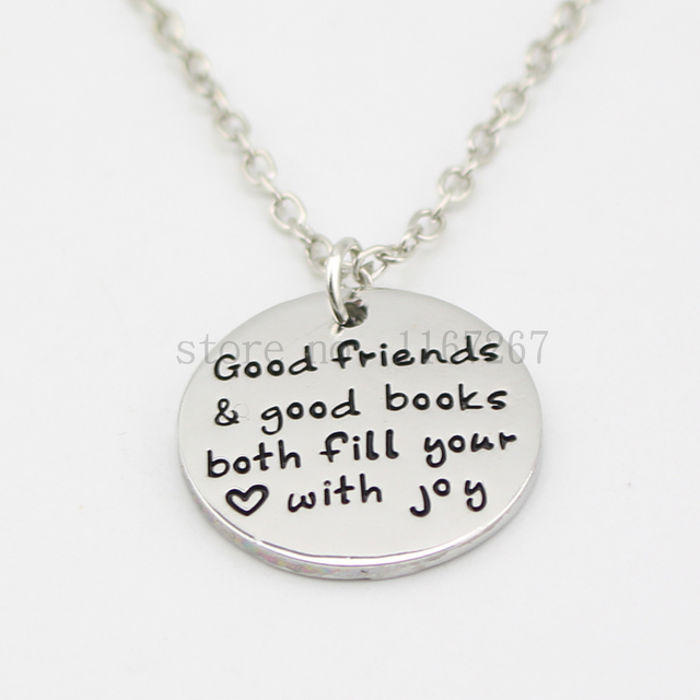 2015 new arrive best friend necklacegood friends good books both 2015 new arrive best friend necklacegood friends good books both fill your with joy aloadofball Gallery