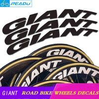 Гигантский гонки Светоотражающие колесная Стикеры s 700C Rines де Bicicleta De Рута Carbono велосипед Стикеры Велоспорт обода колеса наклейки