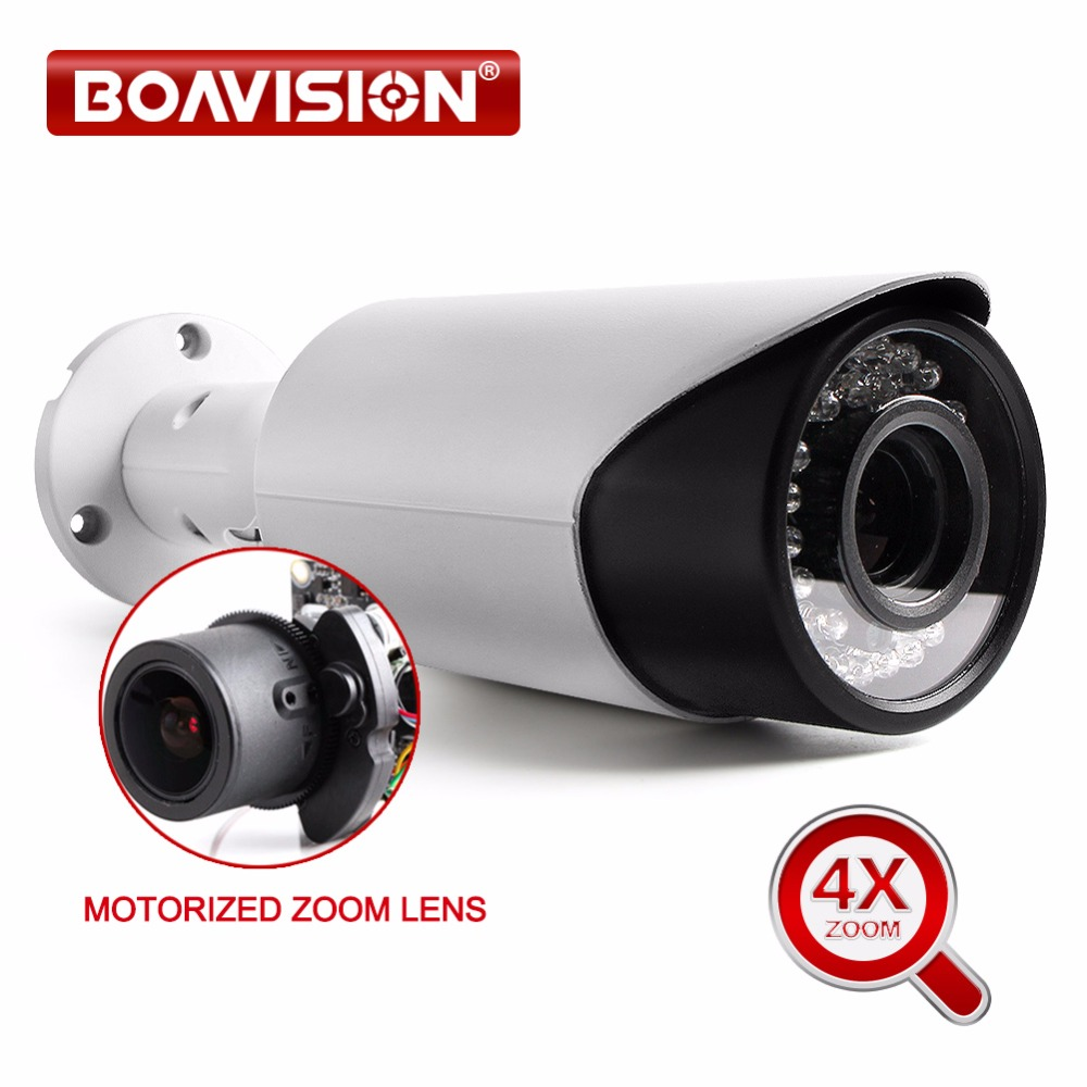 4.0MP Network Outdoor 3MP/4MP IP Camera POE Waterproof IP66,Full HD 4X Zoom Auto Iris Motorized IR 40m Security Camera-in Surveillance Cameras from Security & Protection    1