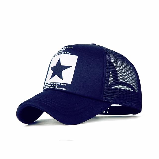Gorra de béisbol de moda al aire libre gorra de malla de verano transpirable