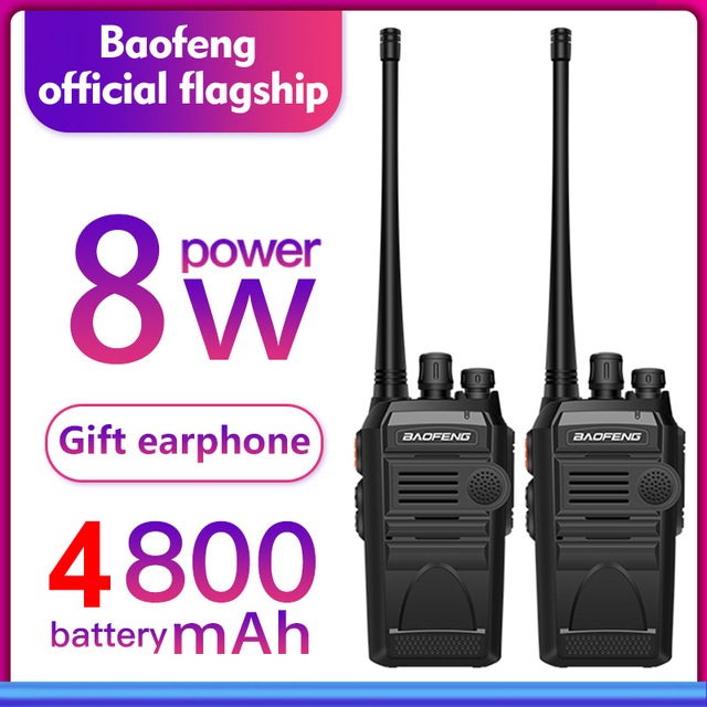 2pcs/lot BAOFENG 999S plus Walkie talkie UHF Two way radio baofeng 888s UHF 400 470MHz 16CH Portable Transceiver with Earpiece