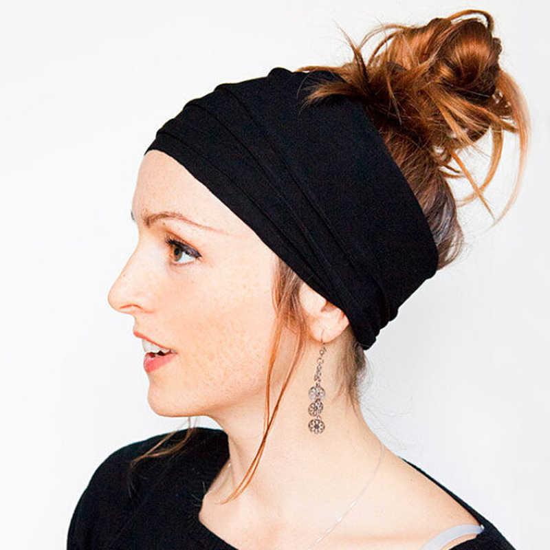 女性ヘッドバンド、ソフトストレッチコットン女性ガールヘアファッションターバン Headwrap トップノットヘアアクセサリーヘアバンドヘアアクセサリー