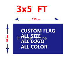 Пользовательский двусторонний ФЛАГ 150X90 см (3x5FT) 130 г 100d полиэстер все логотип все цветной флаг