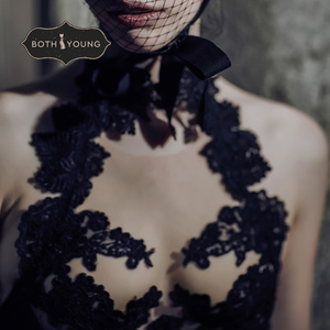 Image 5 - Bothoyung 2019 여성을위한 새로운 섹시한 란제리 레이스 수 놓은 숙녀 bralette 속옷 섹시한 푸시 업 브래지어 세트