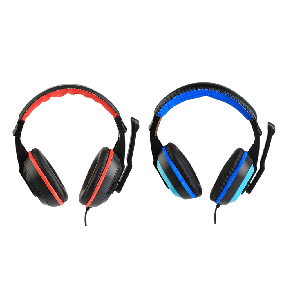 Stereo Gaming Headset Headphones Earphone with Mic PC Computer Laptop Black Blue Auriculares Headset 3.5mm