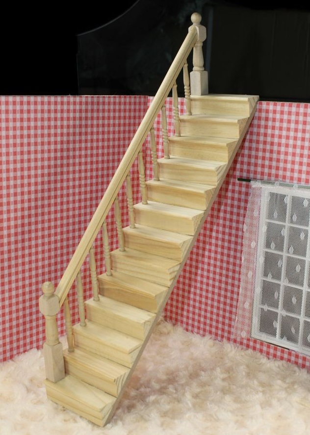 MINI Doll house Mini model villa hut DIY handrail stairs left side mini doll house accessories simulation mini suitcase life scene ornaments model