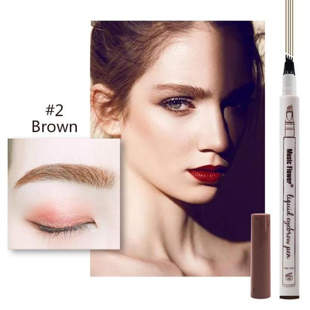 3 Colors Microblading Eyebrow Tattoo Pen Waterproof Tattoo Durable Eye Brow Pencil Smudge-proof Fine Sketch Liquid Eyebrow Pen 4