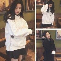 kpop Through the fresh water drops Sunday GOT7 Wang Jiaer jackson with the fake two plus velvet Hoodies women hooded jacket