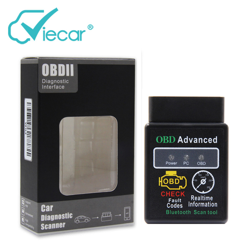 Elm 327 1.5 OBD2 Bluetooth Adapter Diagnostic Scanner For Cars Eml327 Car OBD ii Diagnostic Connector With Pic18F25K80 Chip