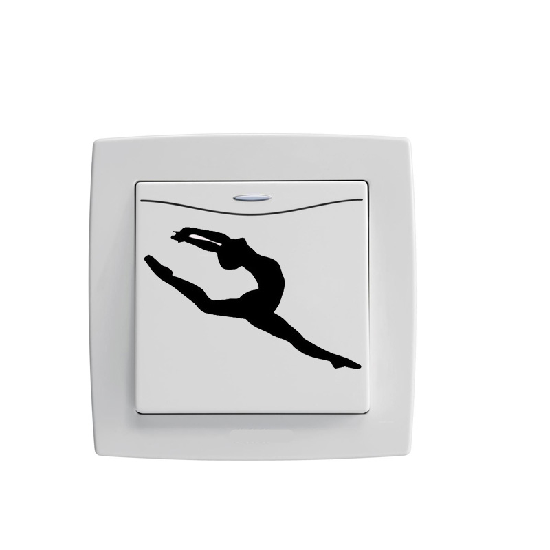 The Word Horse Art Dance Moves Vinyl Wall Decal Switch Sticker 5WS0634