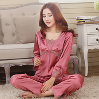 Spring Summer Autumn Silk Women Pajamas Sets Sleep Shorts Lady Nightdress Female Home Clothes Plus Size 2XL