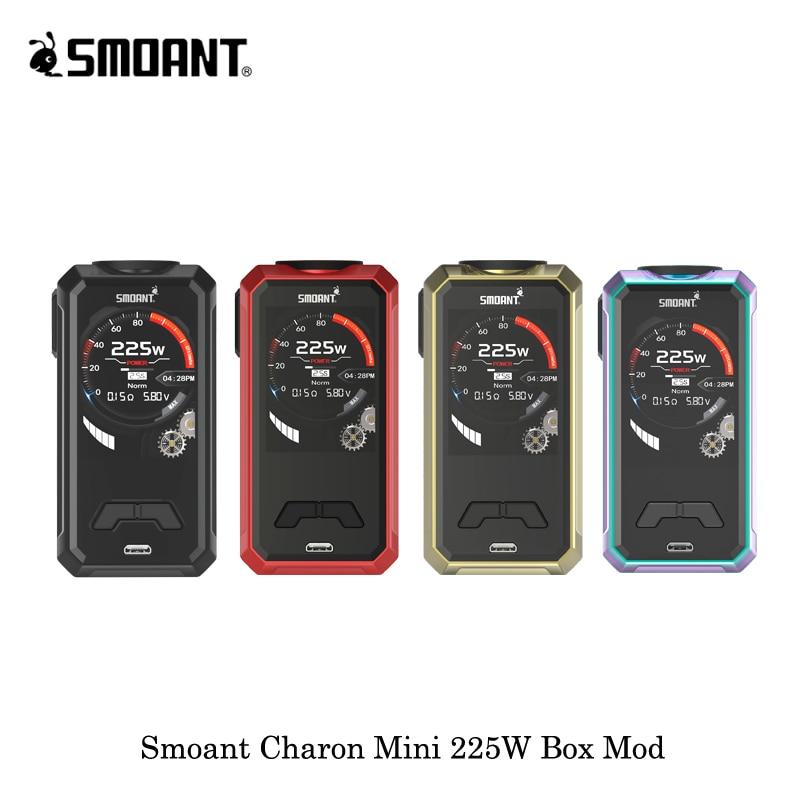 Оригинальный Smoant Харон мини поле Mod 225 Вт Vape электронные сигареты создано Двойной 18650 Батарея VS Eleaf iJust 3 Батарея комплект