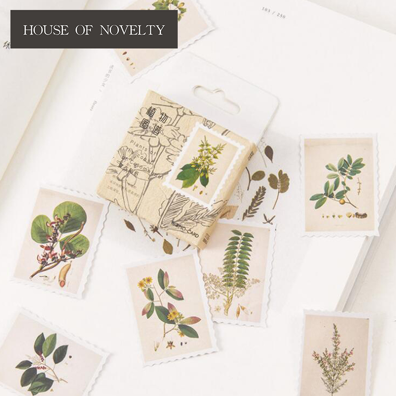 Plant Collection Decorative Stickers Adhesive Stickers DIY Decoration Diary Stickers Box Package