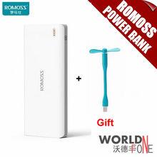 100% Original ROMOSS Sense 9 25000 mAh Banco de Potencia para Todos Los Teléfonos Tablet PC 5 V 2.1A/1A Tres Pilas Salida USB Poderes de Copia de seguridad