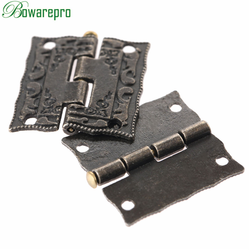 bowarepro 26*23mm Antique Bronze Cabinet Hinges Furniture Accessories Jewelry Boxes Hinge Furniture Fittings For Cupboard 4PCSbowarepro 26*23mm Antique Bronze Cabinet Hinges Furniture Accessories Jewelry Boxes Hinge Furniture Fittings For Cupboard 4PCS