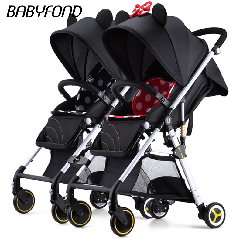 Fast Shipping ! Baby Stroller Can Sit Lie Super Lightweight Folding  Portable Baby High Landscape Pocket Umbrella Carts 12pcs