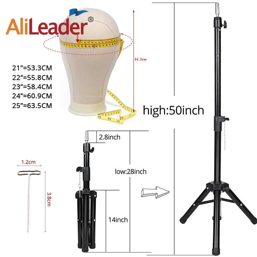 Alileader 新 125 センチメートルかつらスタンドかつら三脚マネキンキャンバスブロックヘッド調節可能な三脚スタンドとかつら作るキット TPins ギフト
