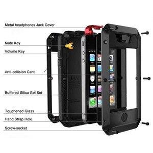 Image 2 - ヘビーデューティ保護運命鎧金属アルミ電話ケース iphone 6 6S 7 8 プラス XS 最大 XR × 5 4S 5 耐衝撃防水カバー