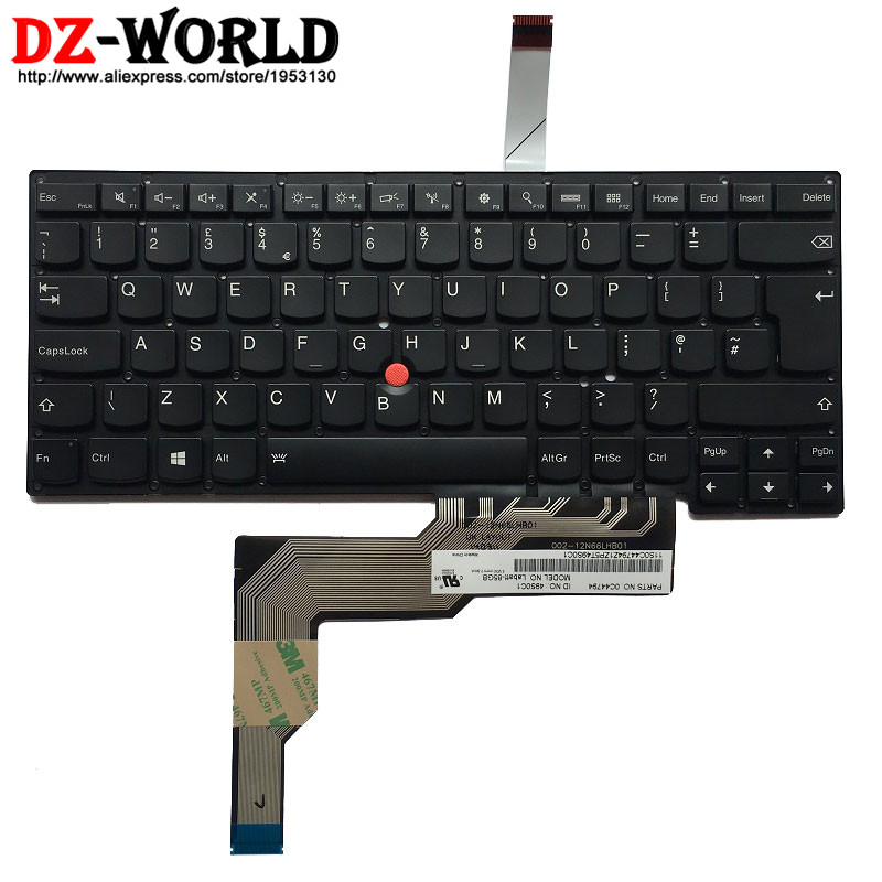 New Original UK English Backlit Keyboard For IBM Lenovo Thinkpad S3 S431  S3 S440 Backlight Teclado 0C44794