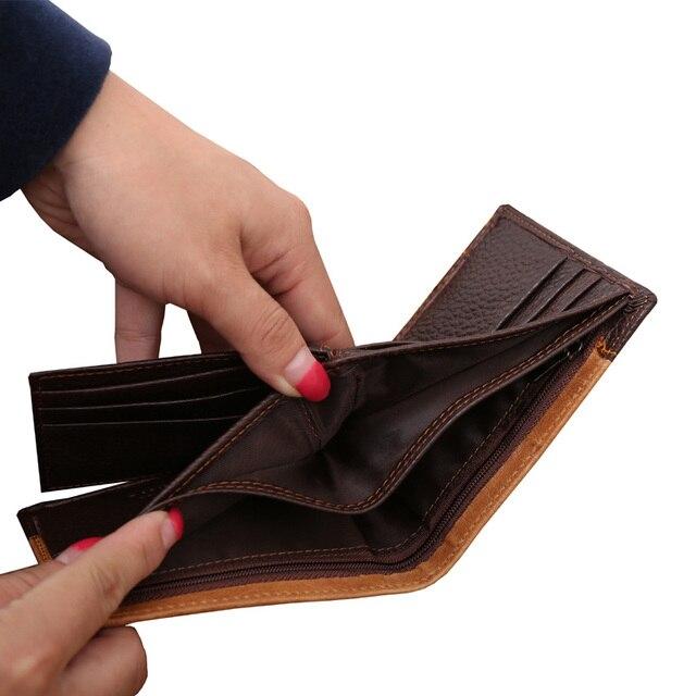2017 Multifunction Wallets 100% Genuine Leather Wallet Fashion Men Brand Designer Credit Card Holder With Coin Pocket Purse