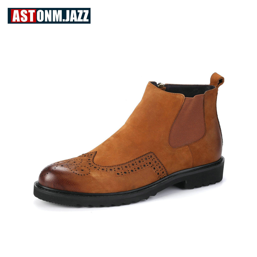 Mens Winter Martin Boots Casual Genuine Leather Ankle Warm Snow Fashio Boots For Mens Sn ...